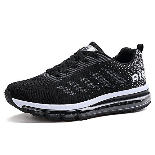 Unisex Herren Damen Sneakers Sportschuhe Bequeme Laufschuhe Schnürer Air Running Shoes 35-45(833BK39)