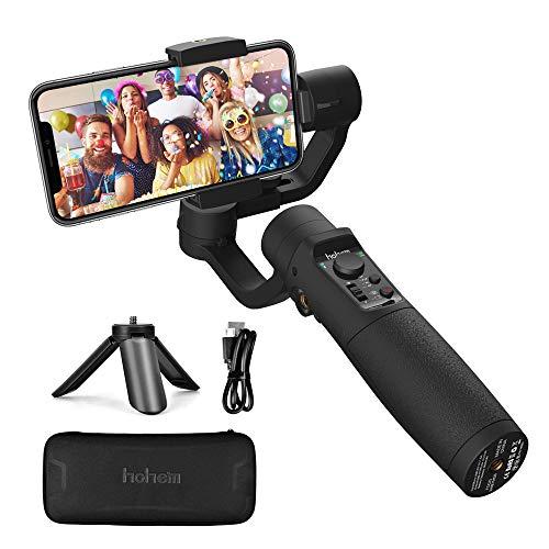 Stabilizzatore Gimbal - 3 Assi Stabilizzatore Smartphone Spruzzi d'acqua Prova con 5 Modalità Treppiedi e 3600mAh Batteria, Gimbal Smartphone iOS&Android Caricamento 280g, Adatto Samsung/Huawei/iPhone