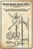 US Patent Küchenmaschine Mixer Kitchen Machine 1894 Blechschild Metallschild Schild gewölbt Metal Tin Sign 20 x 30 cm