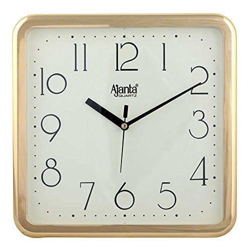 Ajanta Quartz Wall Clock Square Shape,Sandle