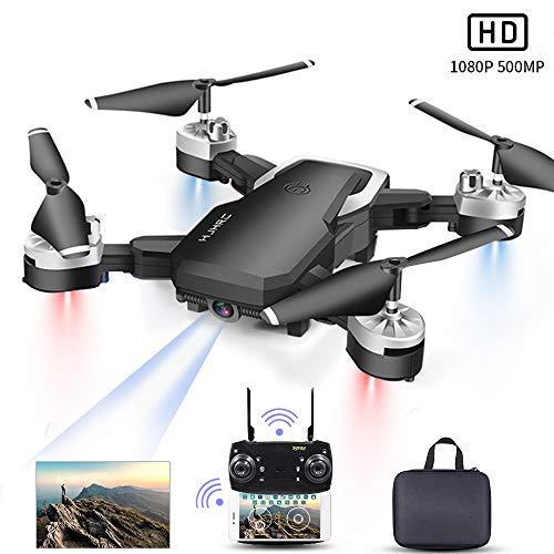 Drone con Telecamera, Mini Drone con 1080P HD FPV Wi-Fi per Video, Headless Mode/Manutenzione dell'altitudine/Pianificazione delle Rotta di Volo/Gesture Foto, Adatto a Principianti e Bambini