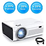 Vidéoprojecteur Crosstour Portable Mini Retroprojecteur Home Cinéma 1080P Supporte LED 55000 Heures