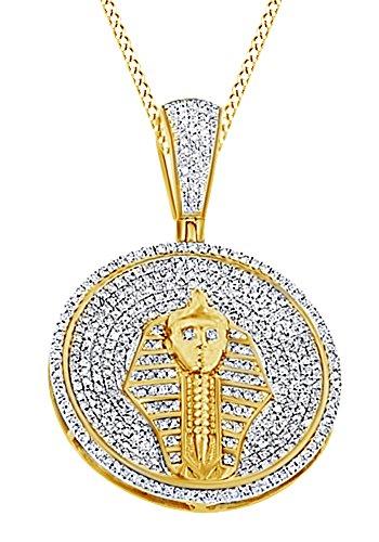 Colgante plata de ley chapada en oro 18k
