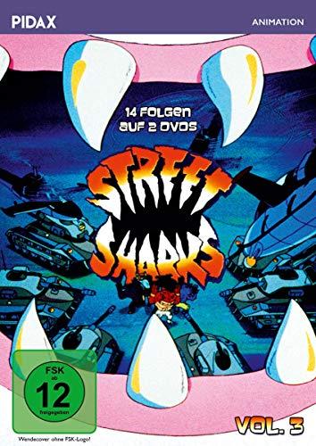 Street Sharks, Vol. 3 / Weitere 14 Folgen der Zeichentrickserie (Pidax Animation) [2 DVDs]