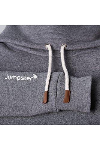 JUMPSTER Turtleneck Damen & Herren EXQUISITE mit Kragen, sehr kuscheliger Sweater, langer Hoodie (slim / regular) Slim Fit Grau M - 6