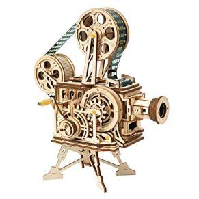 YVSoo Modelo de cinematografo Rompecabezas de Madera 3D Proyección cinematográfica Set de construcción