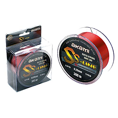 AKAMI SS LINE SUPER STRONG SURF LINE LENZA 0.30MM 300MT RED 10.15kg 22,40lbs