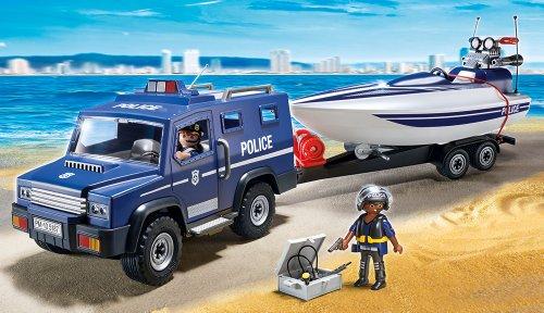 PLAYMOBIL 5187 – Polizei-Truck mit Speedboot - 2