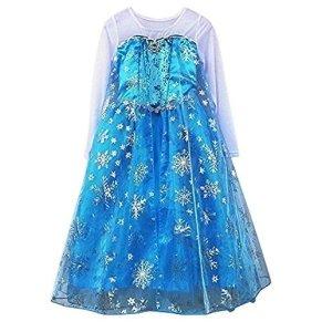 Reina Elsa De Frozen Disney Estilo Niñas Princesa Disfraces 7-8 años