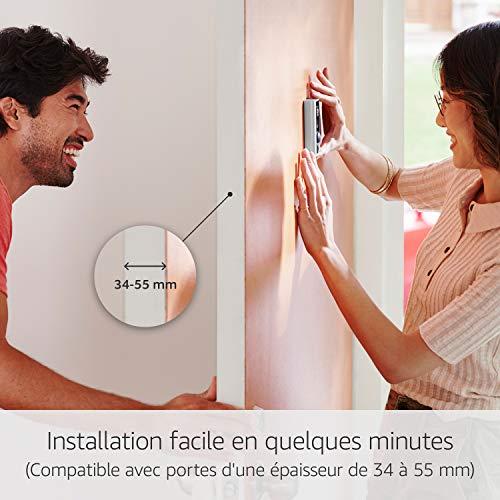 51iXavexosL [Bon Plan Ring] Ring Door View Cam   Remplacez votre judas par une nouvelle sonnette vidéo HD 1080p équipée d'un système audio bidirectionnel   Pour portes d'une épaisseur de 34mm à 55mm.