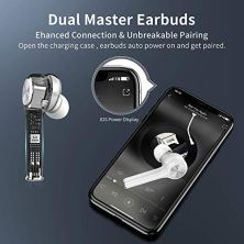 Auriculares-inalmbricos-Bluetooth-50-Reduccin-de-Ruido-en-Llamadas-CVC80-y-Micrfono-HD-Autonoma-35-Horas-Control-Tctil-Auriculares-Deportivos-Blancos-compatibles-con-TV-Smartphone-Tablets