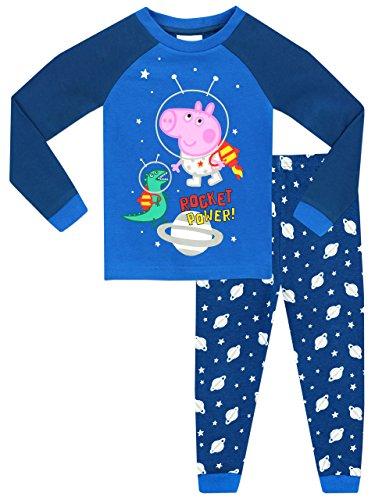 George Pig - Pijama para Niños - George Pig Brilla En La Oscuridad - Ajuste Ceñido - 5 - 6 Años