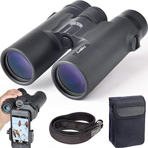 Gosky Telescopio Monocolo 12x 50 Waterproof Portatile con Adattatore per Telefono Osservazione Fauna...