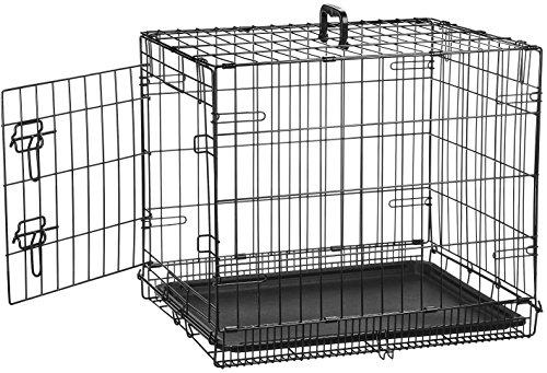 AmazonBasics - Gabbia in metallo richiudibile, per cani, Portiera Singola - Piccolo