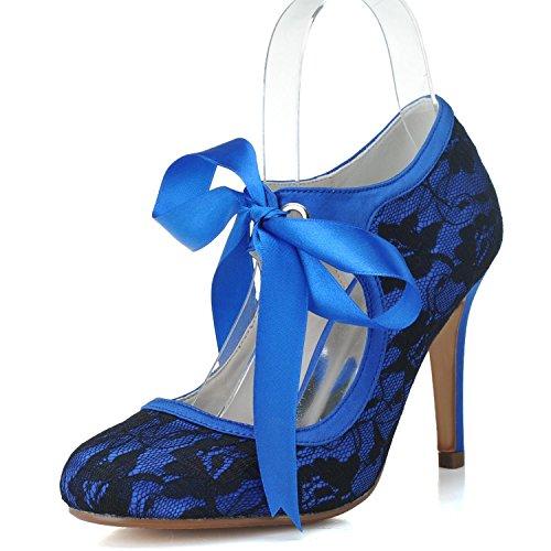 buy online 9c359 a8a4c Elegant high shoes Scarpe da Donna con Tacco Basso da Donna TU-5623-06  Scarpe da Cerimonia Corte con Fiocco in Pizzo - Prezzo lato