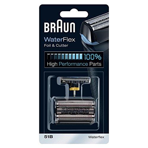 Braun 51B - Recambio para afeitadora eléctrica, compatible con afeitadoras WaterFlex, color negro