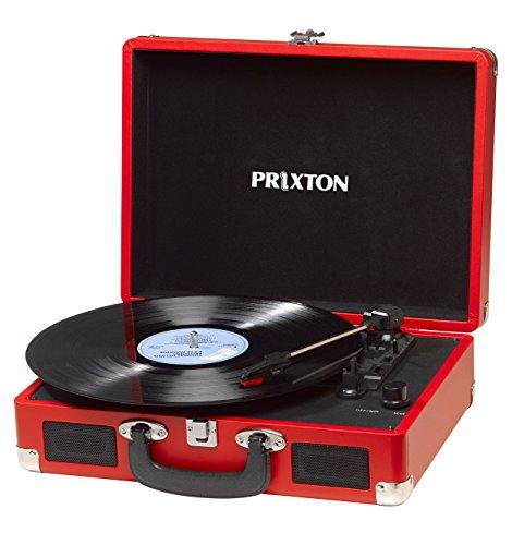 PRIXTON - Giradischi Vinili / Gira Dischi per Vinile Bluetooth con Convertitore Vinili e...