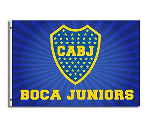 Boca Junios Unisex Bandiera con 2Occhielli, Blu, 150x 90cm