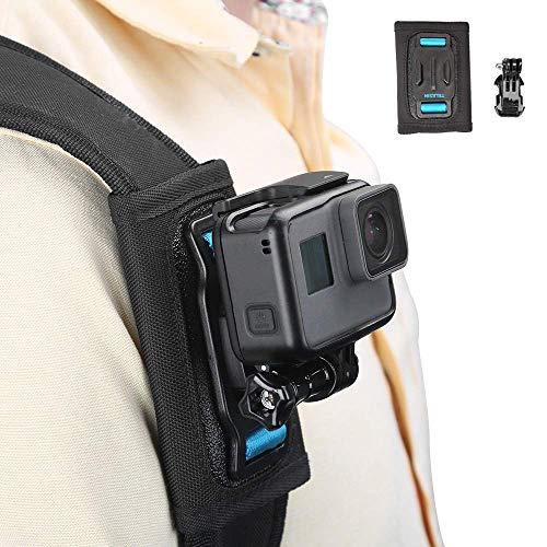 Telesin zaino tracolla supporto per fotocamera, cinturino in velcro regolabile spallina e del sistema di fissaggio per GoPro Hero/Fusion/sessione, Polaroid, Xiaomiyi, SJCAM