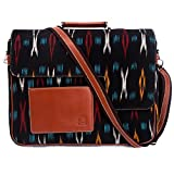 Bread & Butter - Ikat Designer Leather Laptop Bag/ Messenger Bag for Laptop - 15.8 Inches - The Postbox