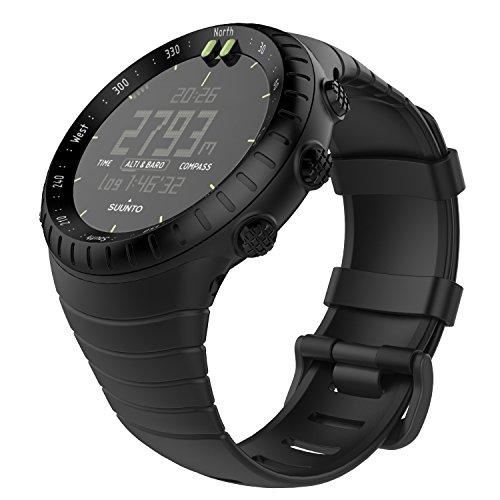 MoKo Suunto Core Watch Cinturino, Braccialetto di Ricambio in TPU Morbido con Gancio Metallico per Suunto Core Smart Watch, per Polso 5.51'-9.06' (140mm-230mm), Nero