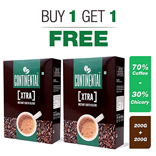 Continental Coffee Xtra Instant Coffee Powder (200 g Bag in Box) Buy 1 Get 1