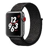 TiMOVO Cinturino per Apple Watch 42mm, Braccialetto Flessibile Ricambio in Nylin con Gancio Regolabile per Apple Watch 42mm Series 3 Series 2 Series 1, Nero