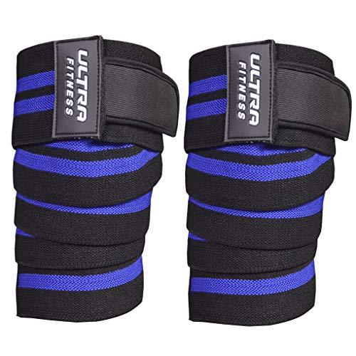 Ultra Fitness, Fascia per Ginocchio, per Sollevamento Pesi, Sollevamento Pesi, Palestra, Colore: Blu