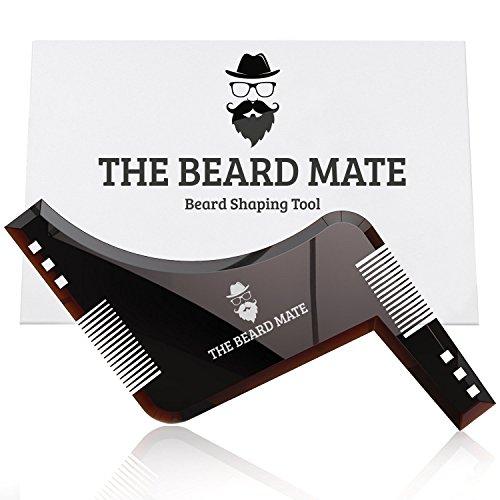 The Beard Mate Pettine per Barba Modellante | Strumento per Modellare la Barba con Pettine Integrato e Design Ergonomico Forma Z | Styling Barba Baffi Pizzetto Basette Qualità Premium Portatile