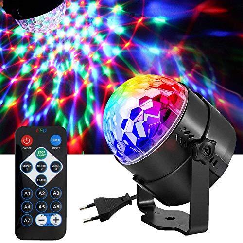 DAMIGRAM Luci Discoteca LED, LED Mini DJ Palla Cristallo Luce di Scena Lampadina Rotante Con...