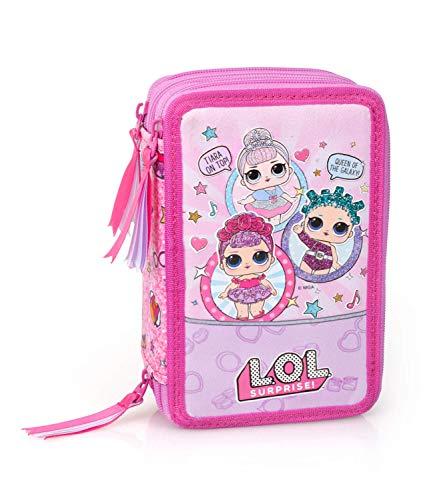 LOL Surprise!- Astuccio L.o.l. 3 Zip, Colore Rosa, 96024