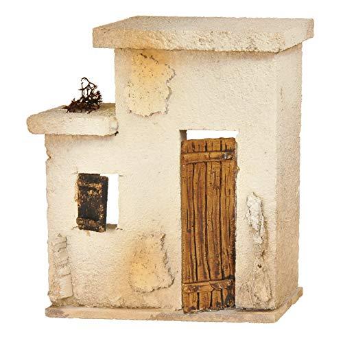 De Sisinno Casa per presepe Orientale/Arabo, Linea Prêt-à-Porter, per statuine da 10 cm - Dim. H16x16x4 cm