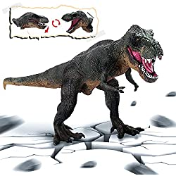 Rolytoy VraiJouet Dinosaurio Tiranosaurio Rex Tyrannosaurus, Boca Movible Dinosaurio Modelo de Juguete a Niño Adulto Coleccionista para Regalar Adornar por Fiesta y Cumpleaños