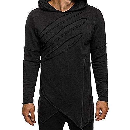 Chaqueta Casual con Capucha, suéter con Capucha Casual de Manga Larga para Hombre Suéter Deportivo