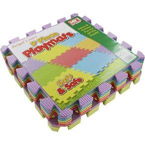 Alfombrillas de juego de espuma entrelazadas M.Y - Alfombrilla gruesa, multicolor, suave, de EVA para piso de bebé…
