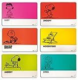 Excelsa Peanuts Set 6 Tovagliette, Polipropilene, Multicolore