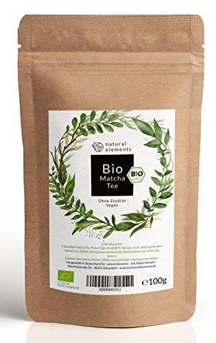 Bio Matcha-Tee Pulver 100g - Echter Bio-Matcha (DE-ÖKO-001) - Ohne Zusätze, rein natürlich, 100{bef637a0f358a9edcdc980728e026f8bf66d11e35c78d85858aa44842edd40f5} Bio & im wiederverschließbaren Beutel - Perfekt für Tee, Matcha-Latte, Matcha-Smoothies und mehr.