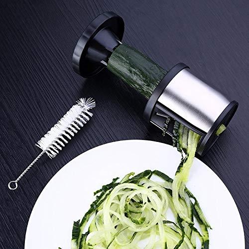 TIMESETL Spiralizer Vegetable and Fruit Cutter Grater Slicer Vegetable Slicer With Cleaning Brush