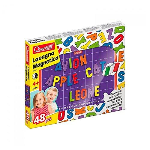 Quercetti 05200-Remix' Lavagna Doppio Uso con Lettere Magnetiche Maiuscole, Multicolore, 05200B