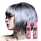 Pacco Da Due Tinte Semipermanenti Per Capelli Da 100ml Crazy Color (Silver)