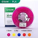 eSUN Bobine Filament PLA 1.75mm FDM 1kg Précision Dimensionnelle ±0.03mm, Cartouche de Filament pour Imprimante 3D, violet transparent