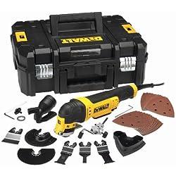 DeWalt Multifunktionswerkzeug Universal DWE315KT - Schleifer, Säge, Spachtel & Universalmesser in einem Gerät / Oszillierendes Werkzeug mit Koffer / 37-teiliges Werkzeug Set / 300W