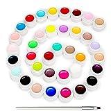 Skymore 36 Farben UV Gel Farbgel Set, Nail Art UV Gel Set, Gelnägel Farben Nagellack Nail Polish für Nagel-Design