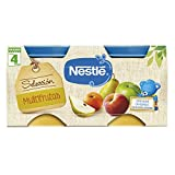 Nestlé Selección Tarrito de puré de fruta, variedad Multifrutas, para bebés a partir de 4 meses - Tarritos 2 x 200 gr