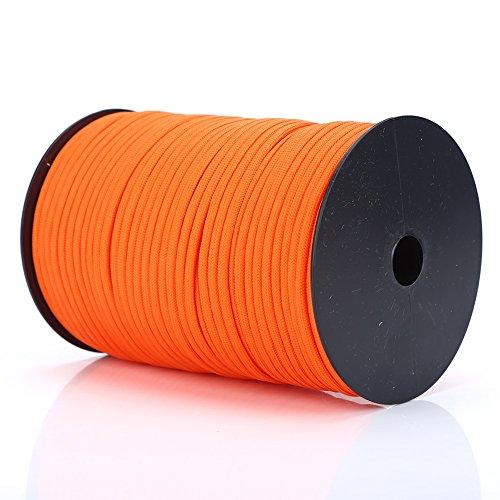 100M Multifunktion Paracord Rolle Flechtleine 9 Strang Fallschirm Schnur aus Polypropylen und Polyester ( Farbe : Orange )