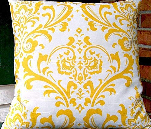 Sa2342Kit Cuscino Damascato Giallo Bianco Cuscino Decorativo Accent Cuscino Giallo Ikat Cuscino...