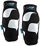 Cube Action Team Elbow Pads - Black/White, Large/Bicycle Cycling Cycle Biking Bike Off Road MTB Mountain Riding Ride Safety Safe Protection Protective Protector Protect Padding Enduro Guard Arm