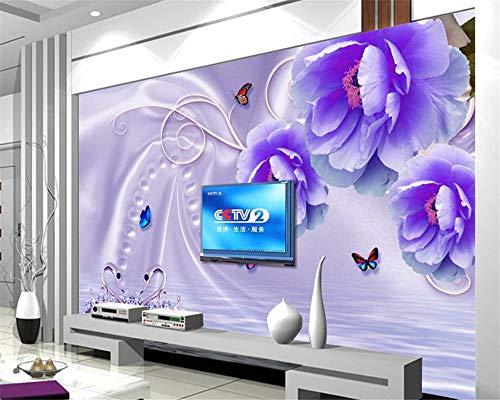MuralXW Senior Fashion Bella Carta da Parati Creativa Indoor casa Sogno Fiore Sfondo Muro Fiori Carta da Parati murale wallpape-450x300cm