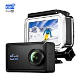TOPELEK 4K Action Cam Wi-Fi 16MP Ultra FHD Impermeabile Immersione Sott'Acqua Camera con Schermo 170 Gradi Ampia Vista Grandangolare/Telecomando 2.4G/20 Accessori all'Interno