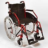 Léger pliage autopropulsé fauteuil roulant avec roues à déclenchement rapide en rouge métallique ECSP03